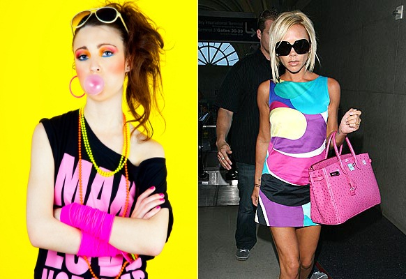 80's fashion picture - neon colors