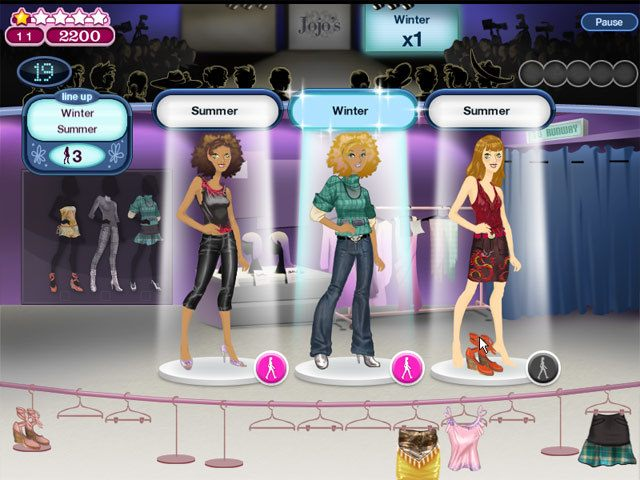 Fashion show games jojo 39 s fashion show game natural for Online design games for adults