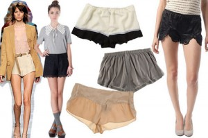 summer bustier tap shorts