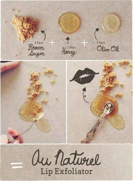 DIY lip-exfoliator