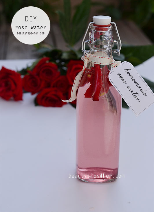 how to make rose water toner at home