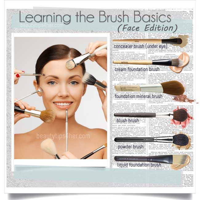 Basic face brushes how to choose and use your makeup brushes there are plenty of brushes that one can use for applying foundation concealers or makeup but women limit themselves to a handful solutioingenieria Gallery
