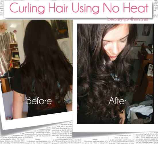 How To Curl Your Hair With A Sock No Heat Needed