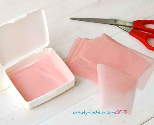 Diy Face Blotting Papers And Face Misting Spray Natural