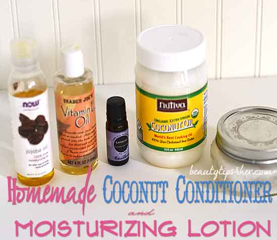 Homemade Coconut Lavender Hair Conditioner And