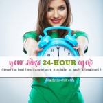 The Skin's 24 Hour Schedule – Because for skincare, Timing is Essential