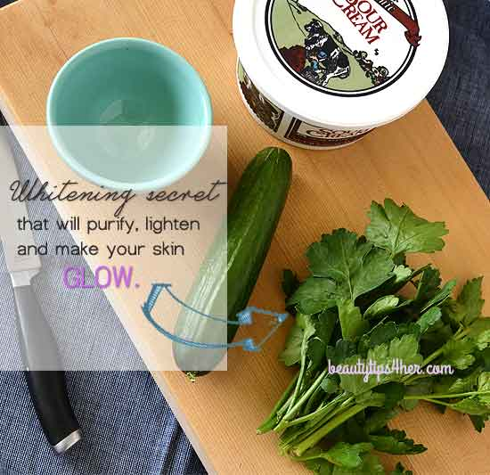 whitening-mask-with-parsley