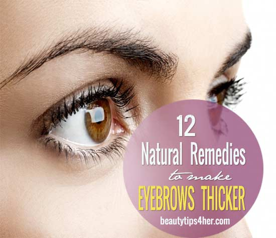How To Make Naturally Thin Eyebrows Thicker