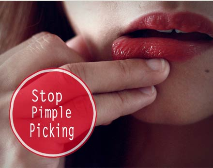how to stop pimples coming out