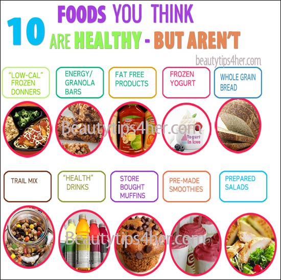 Healthy Vs Unhealthy Foods List