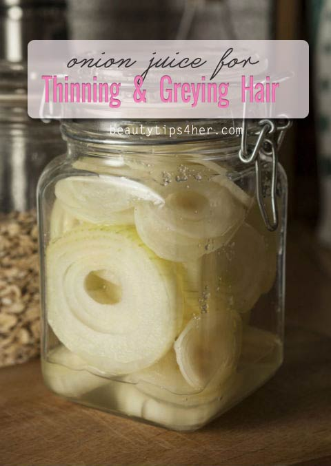 Onion Juice Helps For Hair Growing and Reversing Grey
