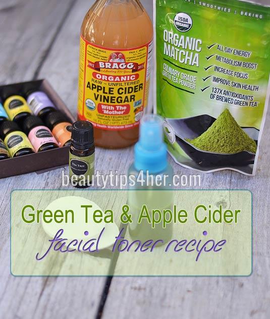 Diy apple cider vinegar and green tea facial toner natural beauty green tea and acv toner solutioingenieria Images
