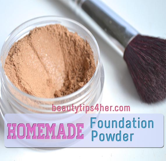 Homemade face powder foundation