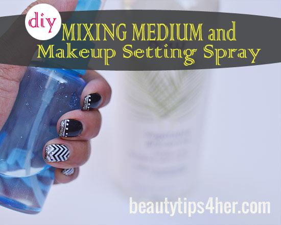 DIY setting spray