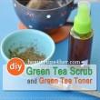 DIY Green Tea Scrub and Green Tea Toner
