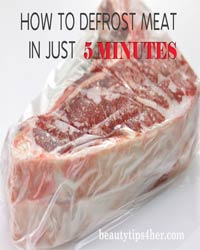 Thumbnail image for How to Defrost Meat in Just 5 Minutes No Special Equipment Necessary!