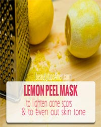 Thumbnail image for Lemon Peel to Lighten Acne Scars and Evening Out the Skin Tone