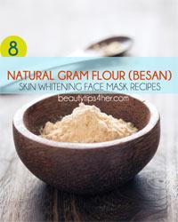 Thumbnail image for 8 Natural Gram Flour (Besan) Skin Whitening Face Masks