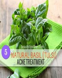 Thumbnail image for 5 Natural Basil (Tulsi) Acne Treatments