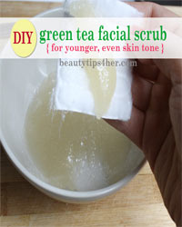 Thumbnail image for Homemade Green Tea Scrub for Glowing Skin and Even Skin Tone
