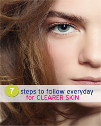 Thumbnail image for 7 Steps to Follow Everyday for  Clearer Skin