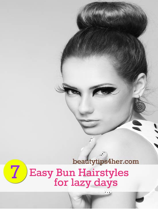 Peachy 7 Easy Bun Hairstyles For Lazy Days Eat Live Beauty Hairstyles For Women Draintrainus