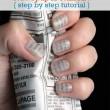 Newspaper Nail Art Tutorial Step By Step
