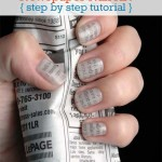 Newspaper Nail Art Tutorial Step By Step