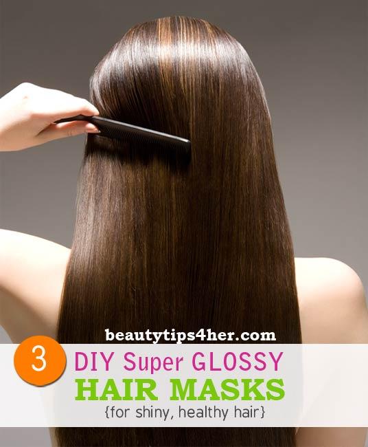 3 Diy Hair Masks For Super Glossy Hair Natural Beauty Skin