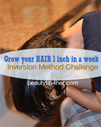Thumbnail image for Grow your Hair 1 inch in One Week – Inversion Method Challenge