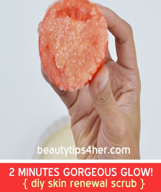 Natural Facial scrub for glowing skin