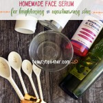 homemade face serum
