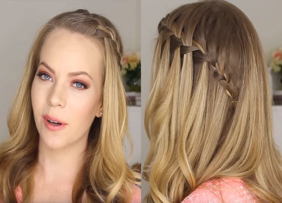 how to draw a waterfall braid