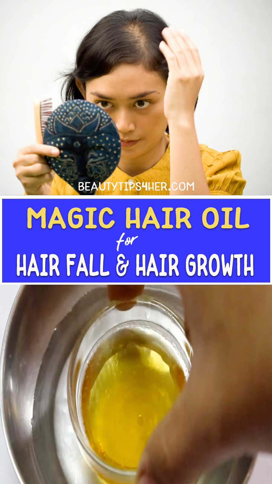 Hair oil for hair fall and hair growth