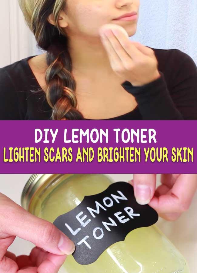 #LemonToner - for brightening skin