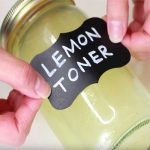 Lemon toner for brightening skin